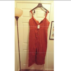 Forever 21 Wide-Leg Couderoy coveralls